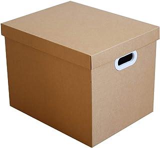 FGDSA Cajas De Almacenamiento De Papel Kraft con Tapa Caja De Almacenamiento Decorativa Gabinete De Colección Multifuncion...