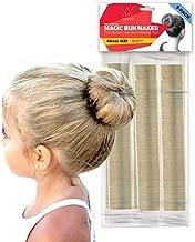 Hawwwy 3-Piece Hair Bun Maker, Easy Fast Snap-and-Roll Bun Hair Tool, Perfect for Mini Buns or Thin Hair, Original Magic Updo Bun Tool, Donut Hair Shaper Kids Women Ballerina Smaller Buns (Blonde)