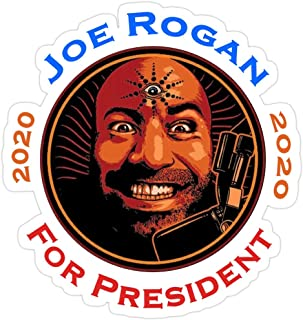 Jess-Sha Store 3 PCs Stickers Joe Rogan for President, Joe Rogan for President Sticker for Laptop, Phone, Cars, Vinyl Funny Stickers Decal for Laptops, Guitar, Fridge