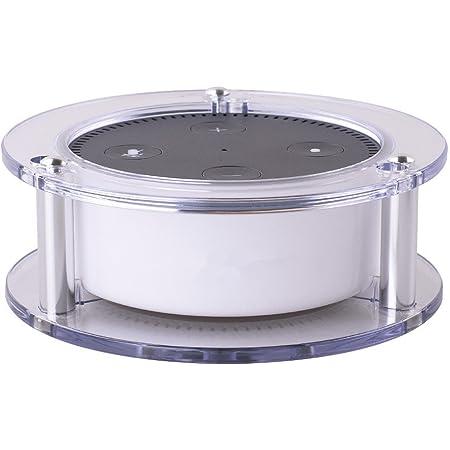 Elecguru Echo Dot スピーカースタンド スピーカーホルダー スピーカーガード 壁適用 ウォールマウントスタンド アスピー (白い透明)
