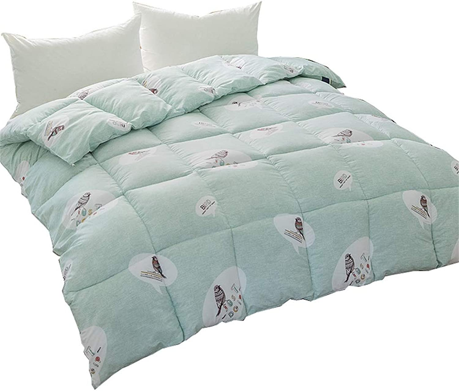 Quilt Stitched Down Alternative Comforter Winter Padded Double Quilt European Simple Solid Warm Hypoallergenic Soft All Season (Size   150cmx200cm2kg)