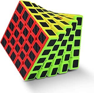 Moyu Professional 5x5 Speed Cube Carbon Fiber Stickers - an Amazing Puzzle for competitions and for Fun (555 Carbon Fiber)