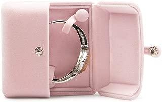 Oirlv Pink Velvet Bangle Gift Box Bracelet Storage Case Jewelry Gift Boxes