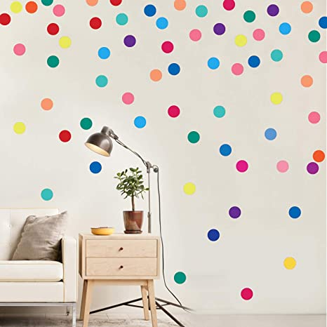 Parlaim Wall Stickers For Bedroom Living Room Polka Dot Wall Decals For Kids Boys And Girls Multicolor 2inch 60circles Amazon Ca Tools Home Improvement