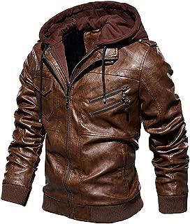 Plus Size Coat Beautyfine Men Leather Plus Velvet Washed Vintage Winter Thickening Outwear Tops