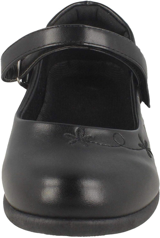 Spot On Girls Synthetic Flower School Shoes