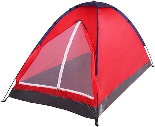 Loisirs De Plein Air Plage Tente De Camping à Double Moustique Coupe-vent,rouge-M