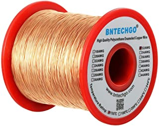 BNTECHGO 32 AWG Magnet Wire - Enameled Copper Wire - Enameled Magnet Winding Wire - 1.0 lb - 0.0078