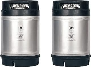 Two New 2.5 Gallon Ball Lock Kegs - Dual Rubber Handles + Free O-Ring Kit