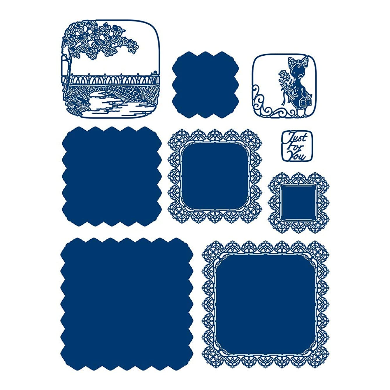 Tattered Lace Interlinked Illusions Square Die Set