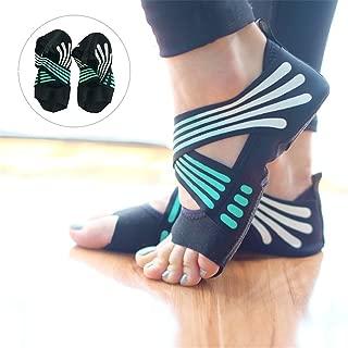 Lacyie Calcetines de Yoga Antideslizantes para Mujer, algod