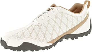Ladies Superlites Spikeless Golf Shoes White/Tan