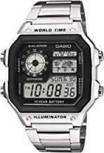 Casio Collection Herren Digitale Armbanduhr mit Armband aus Kunstharz–ae-1200wh