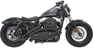 Bassani Xhaust 14-19 Harley XL883N Radial Sweepers Exhaust (Black with Black Heat Shield)