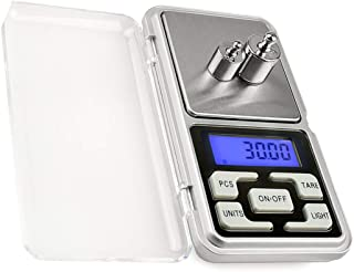 Mengshen Digital Pocket Jewelry Scale High Precision Milligram Scale Steelyard 1.1lb/500g (0.01g) Reloading for Jewelry an...