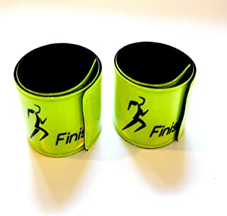 Finish It! Gear Reflective Snap Wrist & Ankle Pop Bands – Reflective Gear for Running, 2-Packs, 4-Packs, 6-Packs. Perfect for Walking, Biking, Pets, and Children for Night Safety!