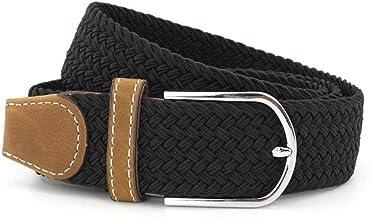 Elastic Woven Belt Unisex Retro Casual Stretch Fabric Woven Elastic Size Casual (Color : Black)