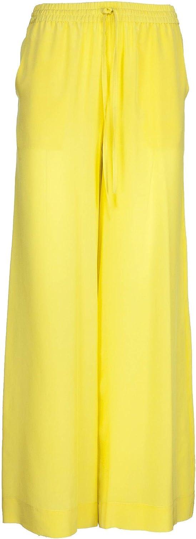 P.A.R.O.S.H. Women's D230580016 Yellow Silk Pants