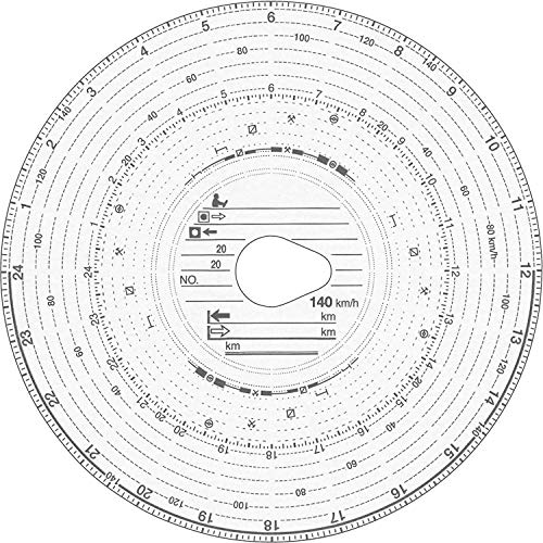 RNK 3102 Original HAUG Diagrammscheiben 140 100 (140 km/h Kombi), 100 Stück
