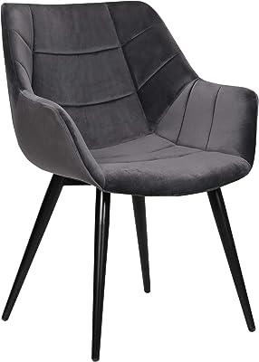 Manger Chaises à IDMarket X4 Sara pour Noires Salle TFKcJ1l3