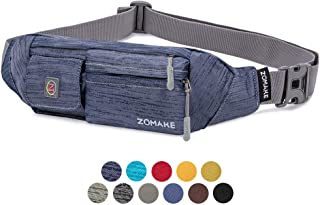 ZOMAKE Fanny Pack for Men and Women, Slim Belt Bag Water Resistant Waist Bag Pack for Running Cycling Carrying iPhone X Samsung S8
