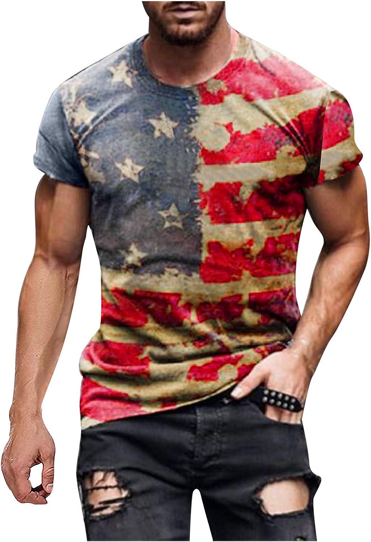 FUNEY Mens Casual T-Shirts Tie Dye Crewneck Short Sleeve Shirts Vintage Oil Painting Faith Jesus Cross Print Tees