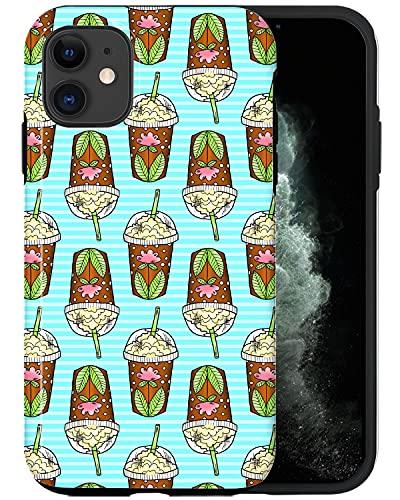 CASFY Funda De Teléfono Compatible con El iPhone 11, Verano Batido KU0100_4...