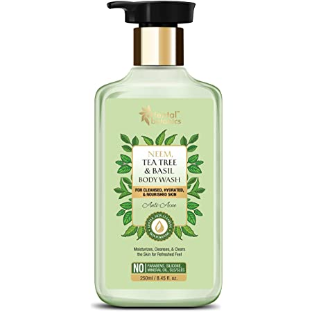 Oriental Botanics Neem, Tea Tree And Basil Anti Acne Body Wash, For Cleansed, Hydrated And Nourished Skin, No Parabens, Silicones, 250 ml
