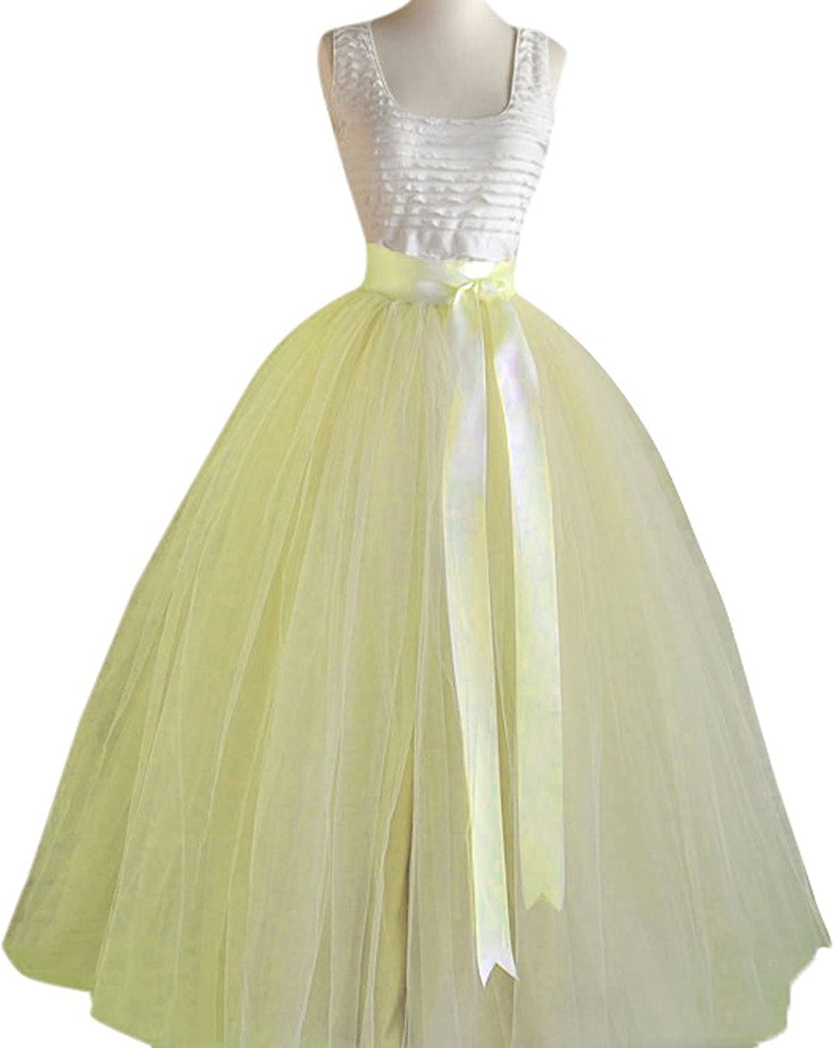 My Super Star Long Tulle Skirts for Women Overlay Wedding Party Skirt XS4X Plus Size Skirts