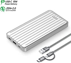 Zendure Ultra-Slim 10000mAh Portable Charger, (Durable) (PD & QC 3.0) USB-C Power Bank with Dual USB Output (3A), Fast Charge External Battery Pack Compatible iPhone, Nintendo Switch, Samsung and More
