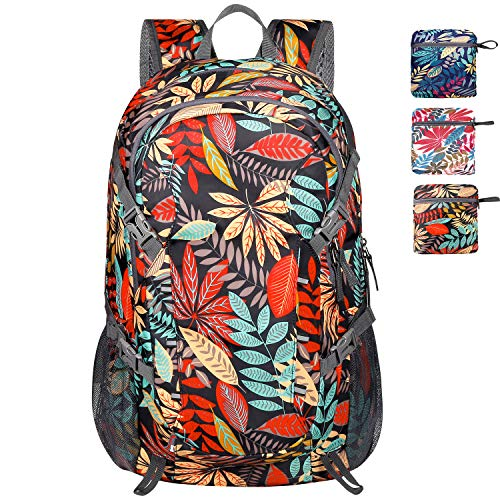 Lightweight Packable Waterproof Backpack with Wet Pocket, Up to 40L Capacity, Travel Hiking Daypack for Men and Women