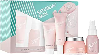 SATURDAY SKIN No Bad Days Set: Rub-A-Dub Refining Peel Gel,Daily Dew Hydrating Essence Mist, Wide Awake Brightening Eye Cream, Featherweight Daily Moisturizing Cream