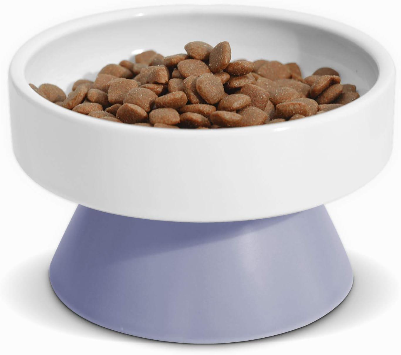 ComSaf Cat Ceramic Raised Discount mail order Food Feeder Bowls Alternative dealer Elevated Prote Pet