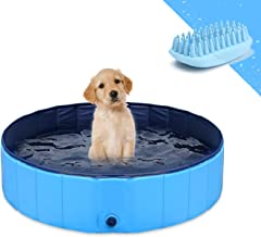 GoStock Dog Pool for Large Dogs, Folding Kiddie Pool, Pet Pools for Dogs, Collapsible Pool for Dogs 32 8 inch