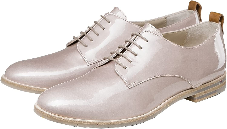 AGL Damen Schuhe UVP 225,- Schnürschuhe Lackleder Nude D713001 7186