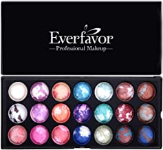 21 Colors Eyeshadow Palette, Everfavor Eye Shadow Makeup Palette Shimmer Eyeshadow Palettes Baked Eye Shadows Cosmetics Pallet with Galaxy Colors (21 Color, 04)