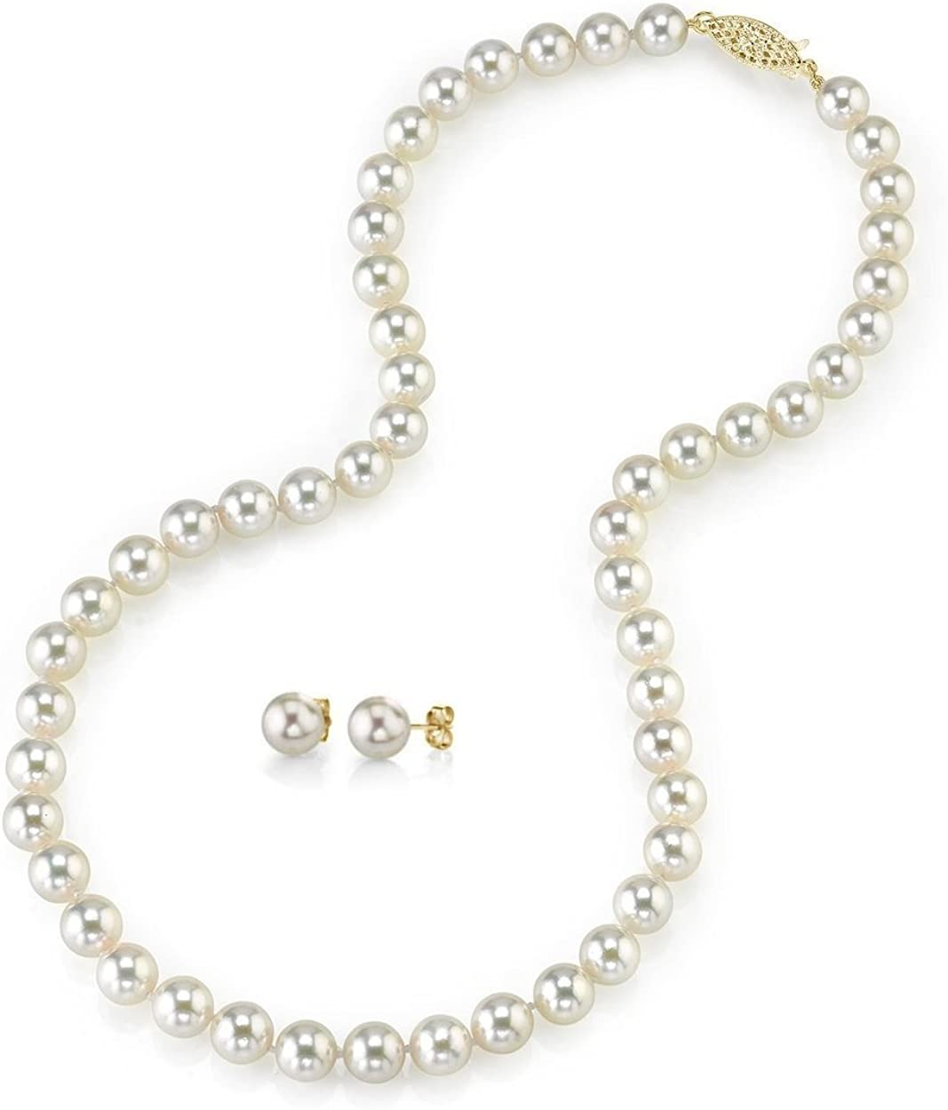 THE Oakland Mall PEARL New color SOURCE 14K Gold 6.5-7mm Akoya Quality Round AAA White