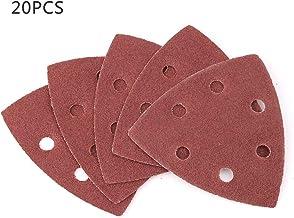 Aestm Lot de 40 feuilles abrasives pour ponceuse Delta 140 mm Grain 40 80 120 240 5 trous pour papier abrasif Black /& Decker Meuleuse triangulaire