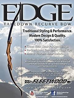 Edge Take Down Recurve by Fleetwood 45# 62
