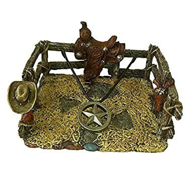 Comfy Hour 8  Western Cowboy Stable Star Napkin Holder For Kitchen Countertop, Table - Brown, Vintage Looking, Western America
