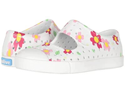 Native Kids Shoes Juniper Print (Toddler/Little Kid) (Shell White/Shell White/Daisy) Girls Shoes