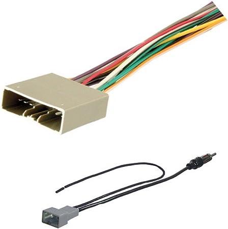 amazon.com: asc audio car stereo radio wire harness and antenna adapter to  aftermarket radio for 2006-2011 honda civic (no nav, no dx model),  2007-2011 honda cr-v (no nav), 2007-2008 honda fit, 2008-2010  amazon.com