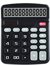 $27 » FMXQYH Office Calculator 12 Digit with Large LCD Display and Sensitive Button, Solar and Battery Dual Power, Standard Func...
