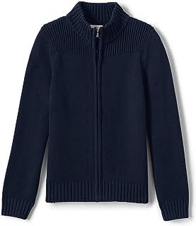School Uniform Boys Cotton Modal Zip Front Cardigan Sweater