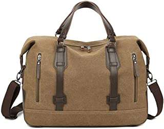Relaxed Durable Large Capacity Weekend Travel Canvas Bag Casual Mens Outdoor Bags Overnight Bags Luggage Bag Duffel Bag