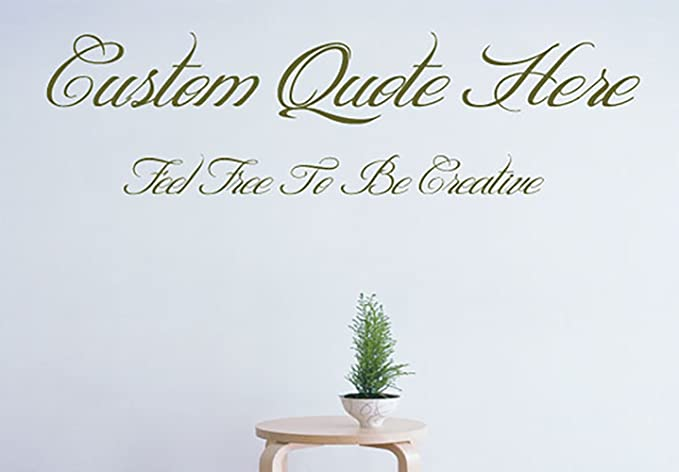 120X60CM. DESIGN YOUR OWN Wall art quote vinyl STICKER