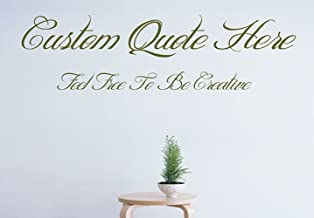 Custom Create Your Own Quote Personalized Wall-Vinyl Decals Stickers, 48 Inches
