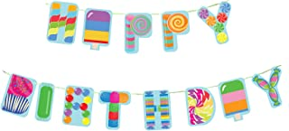 Candy and Sweets Happy Birthday Party Banner