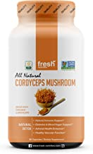Cordyceps Mushrooms - Strongest 1500mg Per Serving Certified Organic DNA Verified Powder Capsules - Great for Immunity, Adrenals, Free Radicals, Vascular Function and Blood Sugar - Third Party Tested