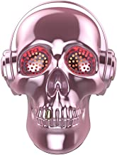 [Updated Version] Skull Wireless Speaker, TOPROAD LED Wireless Super Bass Stereo Sound Cool Skull Artwork Speaker with Wonderful Eyes Light for Home Party/Office/Business/Bedroom/Outdoor (Pink)